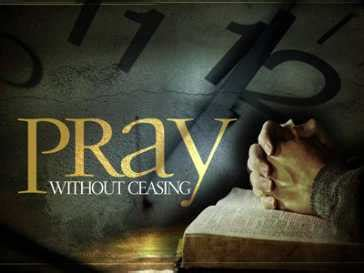 How To Pray Without Ceasing 1 Thessalonians 5 17 Pray Without Ceasing Sermon Powerpoint Template