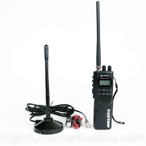 cobra hh road trip handheld cb radio right channel radios