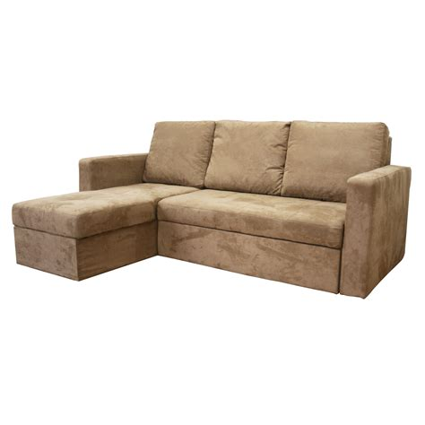 Microfiber Sectional Sleeper Sofa Convertible Sofa Bed Sectional