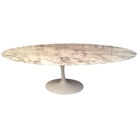 Eero Saarinen Marble Top Dining Table For Sale Eero Saarinen Marble Oval Dining Table At 1stdibs