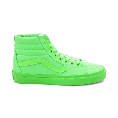 light green high top vans vans shoes lime green vans shoes sale cheap
