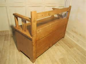pine settle bench for sale european rustic pine box settle bench hall seat