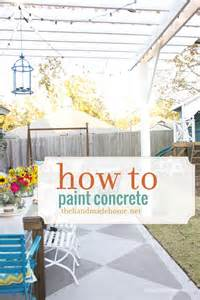how to paint your house painted concrete patios on pinterest painted patio