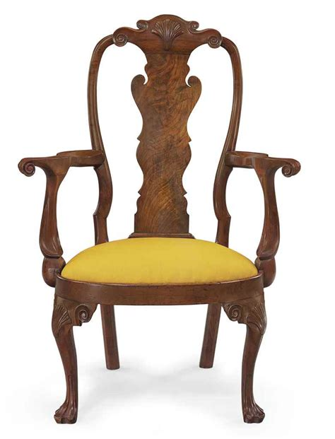 a rare and important queen anne walnut compass seat armchair philadelphia circa 1755 christie s