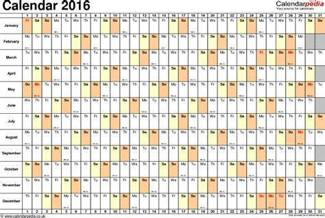 2016 printable yearly calendar excel august 2016 calendar excel 2017 printable calendar