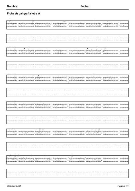 hojas cuadriculadas de caligrafa cuaderno de caligrafia todas las letras