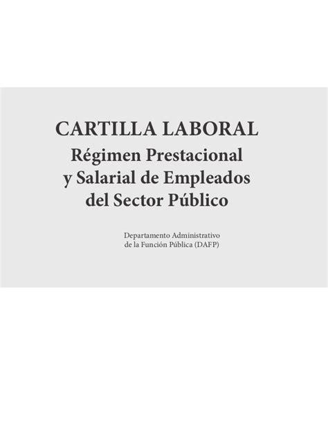 Cartilla Laboral Regimen Prestacional Y Salarial   cartilla laboral regimen prestacional y salarial