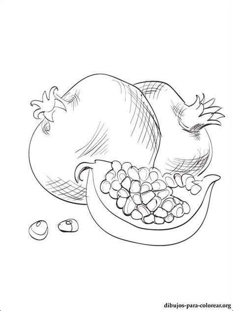 coloring page of a pumpkin seed granado dibujo para colorear e imprimir dibujos para