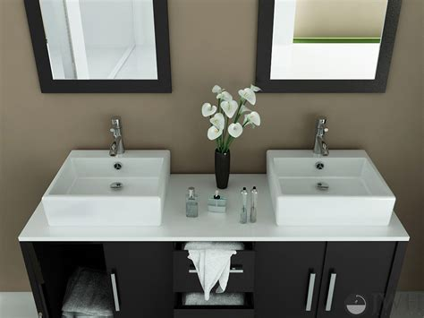 jwh living 59quot sirius double vessel sink vanity stone top