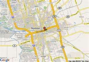 map of rodeway inn stockton stockton