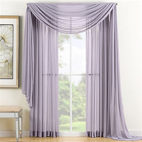 Window Sheer Curtains Reverie Sheer Window Curtain Panel And Scarf Valance Bed Bath Beyond