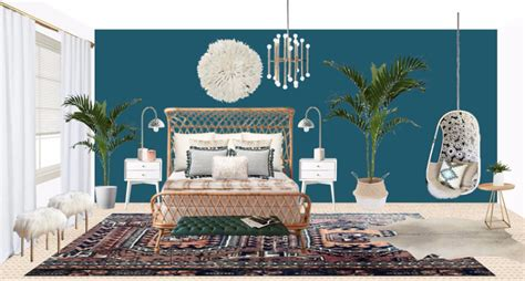 modern bohemian master bedroom makeover decorist