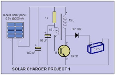 Simple Solar L Circuit by Solar Charger Circuit Diagram