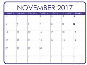 free november calendar template november 2017 printable calendar templates free
