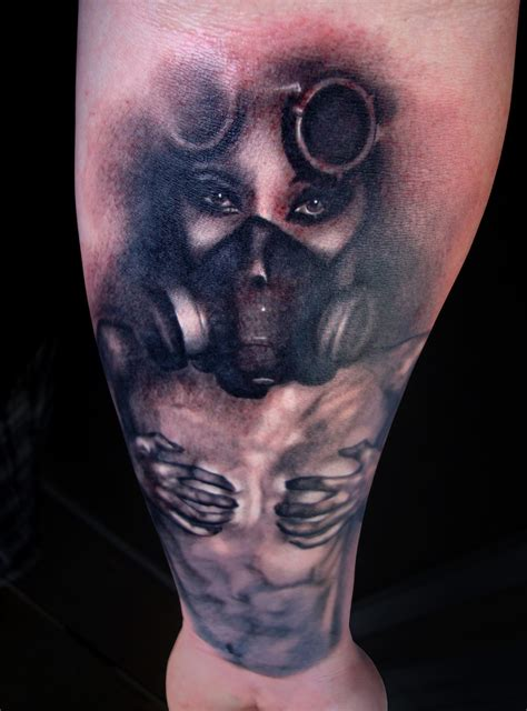 gas mask tattoo with gas mask jpg