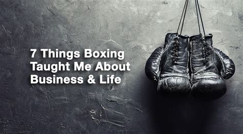 7 Things About Me by 7 Things Boxing Taught Me About Business