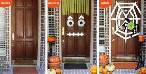 halloween inspiration silly monster  ghost doors