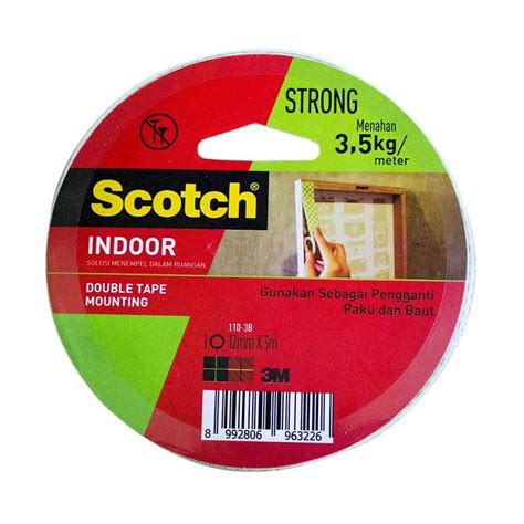 jual 3m 110 3b scotch mounting 12 mm x 3 mm