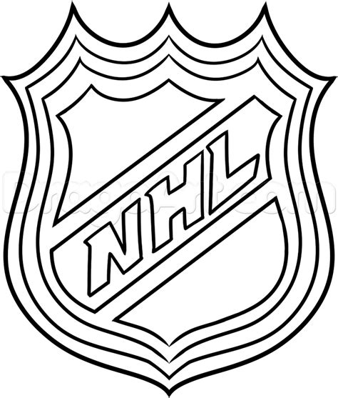 hockey coloring pages oilers how to draw the nhl logo step by step sports pop
