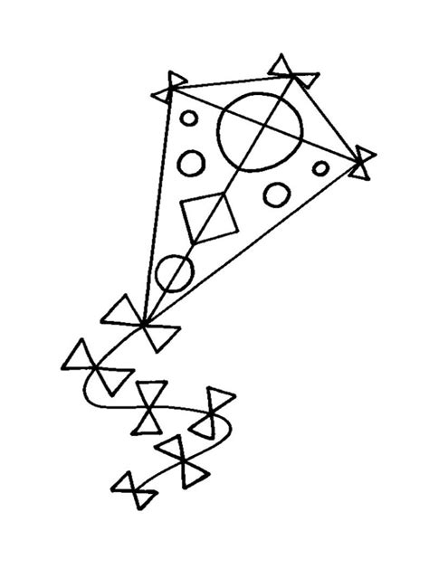 Free Printable Kite Coloring Pages For Kids Pictures To Colour