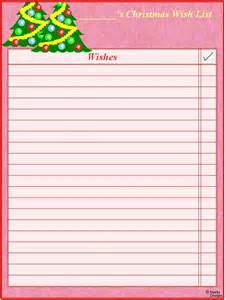 Xmas Wish List Template Free Printable Christmas Wish Lists Printables Pinterest