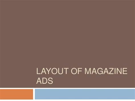 layout magazine advertising researching layout of magazine ads