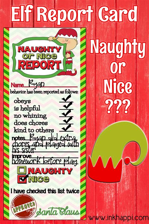 printable elf report cards elf report card plus more holiday printables and a