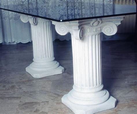 base tavolo cristallo base per tavolo cristallo capitello patrasso pezzi 2 in