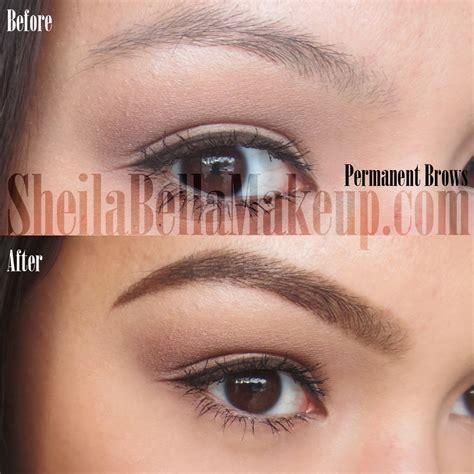 permanent makeup eyebrows powdered look sheila bella