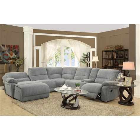 Grey Microfiber Sectional 25 Best Ideas About Reclining Sectional On