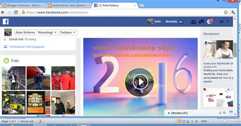 membuat facebook kaleidoskop cara membuat video kaleidoskop di facebook terbaru 171 antonius