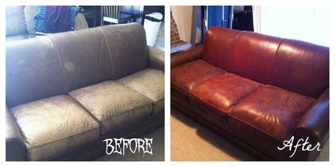 dying a leather couch restaining an old leather sofa do it yourself pinterest