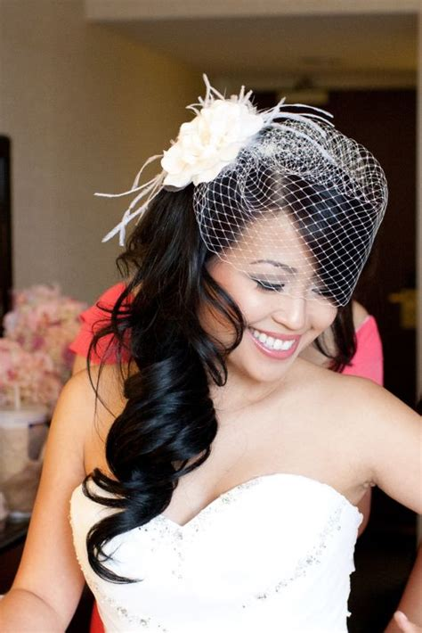 Wedding Hairstyles Hair Birdcage Veil by Hair Half Up With Birdcage Veil Wedding Ideas Juxtapost