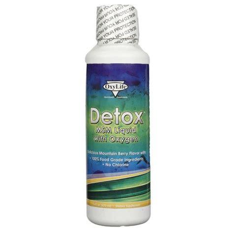 Msm Detox Symptoms by Oxylife Detox Msm Liquid W Oxygen 16 Oz Evitamins