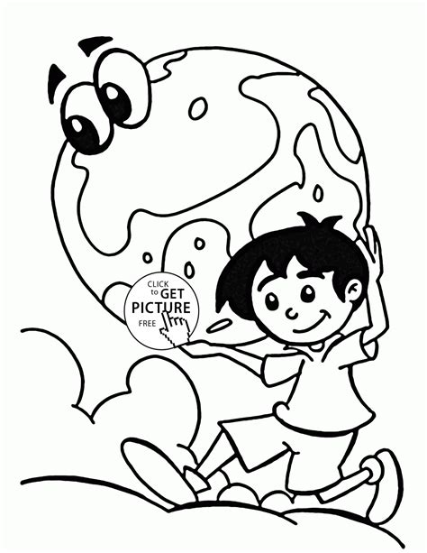Clean Earth Coloring Pages | keep earth clean earth day coloring page for kids