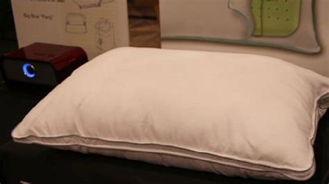 Wireless Tv Pillow Speaker by This Pillow Has Built In Speakers For Listening In Bed