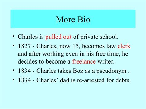 biography charles dickens ppt charles dickens bio and time ppt