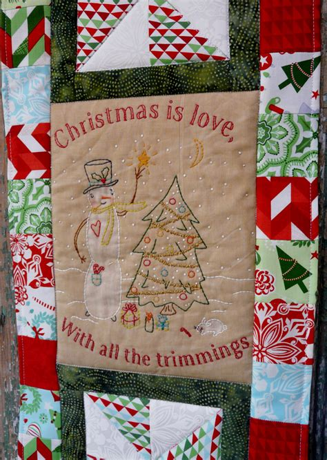 pattern for christmas wall hanging quilt christmas is love quilted embroidery wall hanging pattern