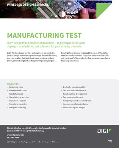 design for manufacturing test download the datasheet