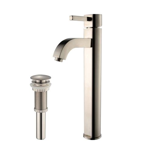 how to install a bathroom faucet with pop up drain kraus ramus single lever vessel bathroom faucet with