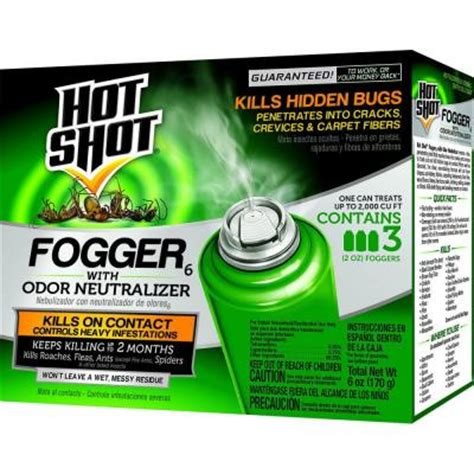 bed bug bombs home depot hot shot 2 oz bedbug and flea fogger 3 pack hg 95911 1
