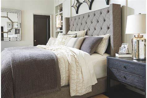 upholstered headboard ashley furniture ashley furniture tufted bedfurniture by outlet furniture