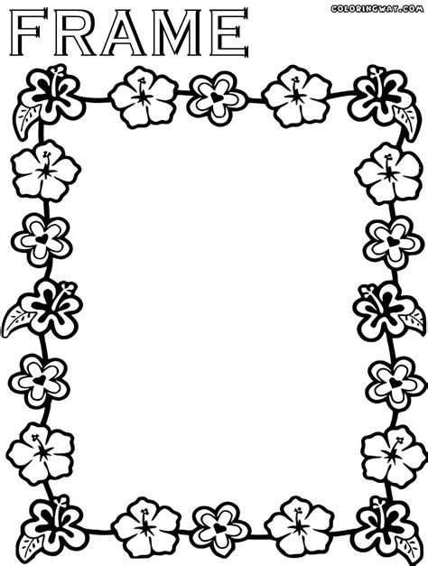 how to frame a print picture frame coloring page coloring home