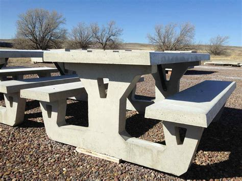 concrete picnic benches the fagenstrom co concrete picnic tables and benches