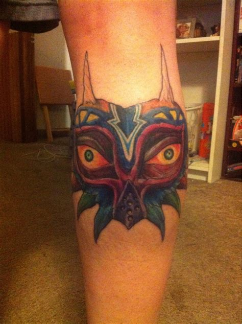 majora s mask tattoo mask tattoos