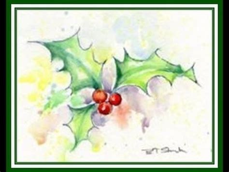 Watercolor Holly Tutorial | 25 best ideas about watercolour pens on pinterest