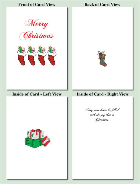printable cards free template printable card templates happy holidays