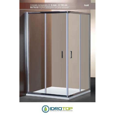 box doccia 80x120 prezzi box doccia rettangolare 80x120 cristallo trasparente 6mm