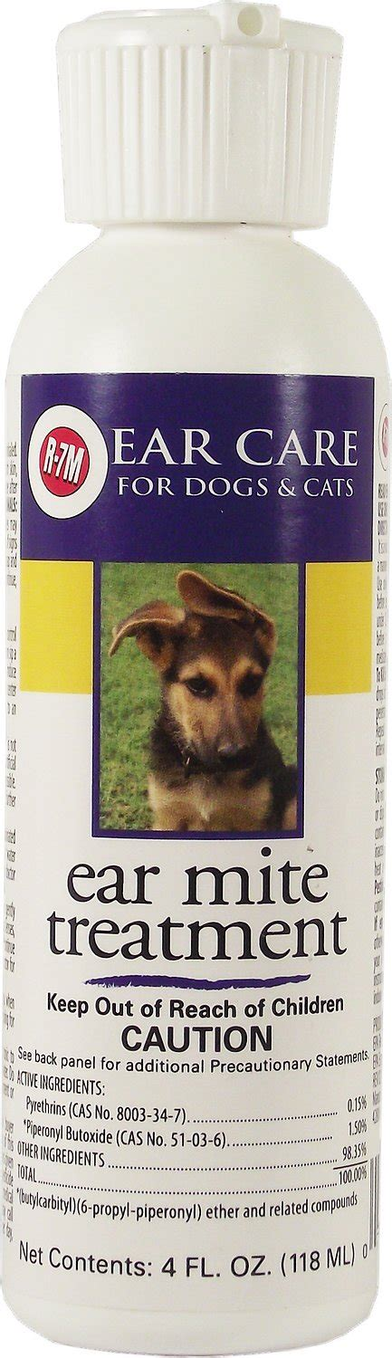 miracle care r 7m ear mite treatment for dogs cats 4 oz