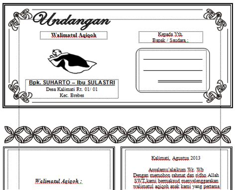 desain layout word download undangan gratis desain undangan pernikahan